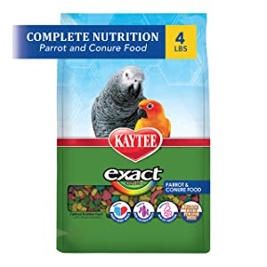 Kaytee Exact Rainbow Bird Food for Parrot and Conures