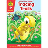 School Zone - Tracing Trails Workbook - Ages 3 to 5, Preschool, Pre-Writing, Intro to Shapes, Alphabet, Numbers, and More (Sc