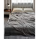 """Electric Heated Blanket Twin 62"""" x 84"""" Large Heating Throw Blanket with 4 Heating Levels & Timer 10 Hours Auto Off, Machine W"""