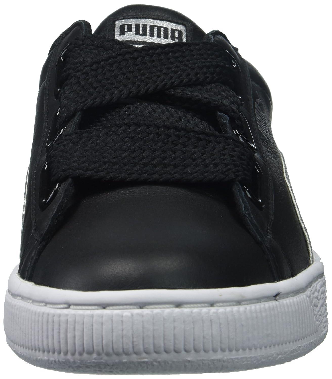 PUMA B06XWHRLP6 Women's Basket Heart Glitter Wn Sneaker B06XWHRLP6 PUMA 8 B(M) US|Puma Black/Silver 1d6276