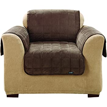 Sure Fit SF39228 Deluxe Pet Chair Furniture Cover, Chocolate