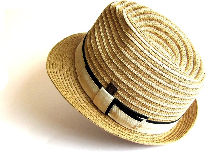DASMARCA Summer Straw Trilby Hat