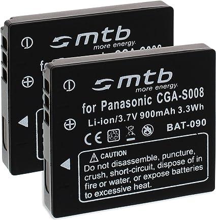 2x Akku Bce10e Cga S008 Kompatibel Mit Panasonic Lumix Kamera