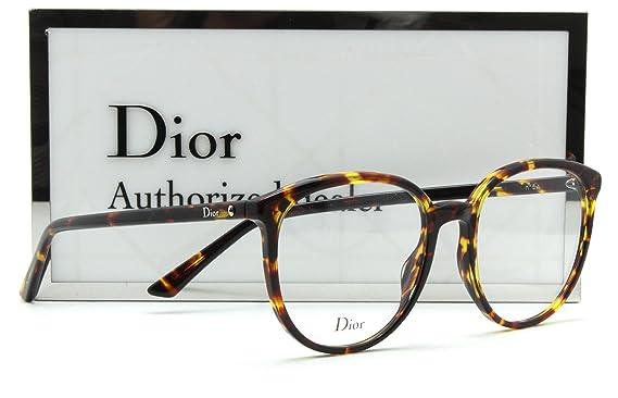 7fe58628fd6 Dior MONTAIGNE 54 Women Eye-glasses Prescription RX-able Frame 0P65 - 53mm   Amazon.co.uk  Clothing