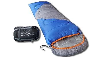 Montañeros al aire libre saco de dormir, transpirable 350 g relleno & resistente al agua