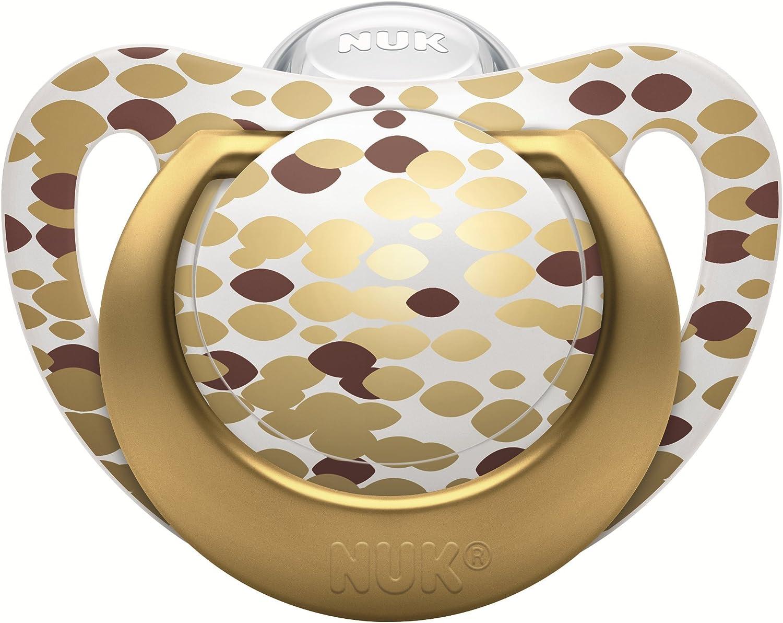 Nuk 10216166 edici/ón Gold Set con biber/ón y chupete para beb/é de 0 a 6 meses