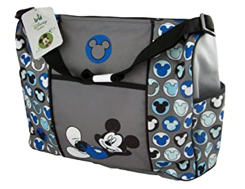 Amazon.com   Mickey Mouse Gray Large Diaper Bag Tote   Baby 1a83bab5b4