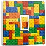 Lego Brique Bloc coloré Autocollant en vinyle pour interrupteur simple et générique