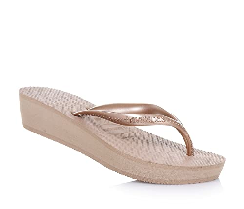 a451c431f4d787 Havaianas High Light Rose Gold Flip Flops UK 3  Amazon.co.uk  Shoes   Bags