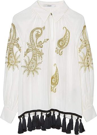 Uterque 0601/253/712 - Camisa Bordada con Flecos para Mujer ...