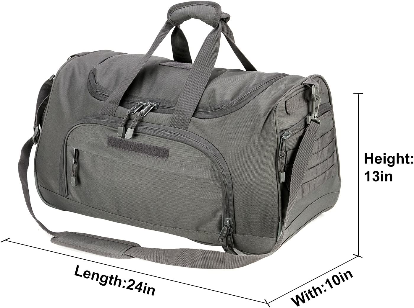 WolfWarriorX Gym Bag for Men Tactical Duffle Bag Military Travel Work Out Bags