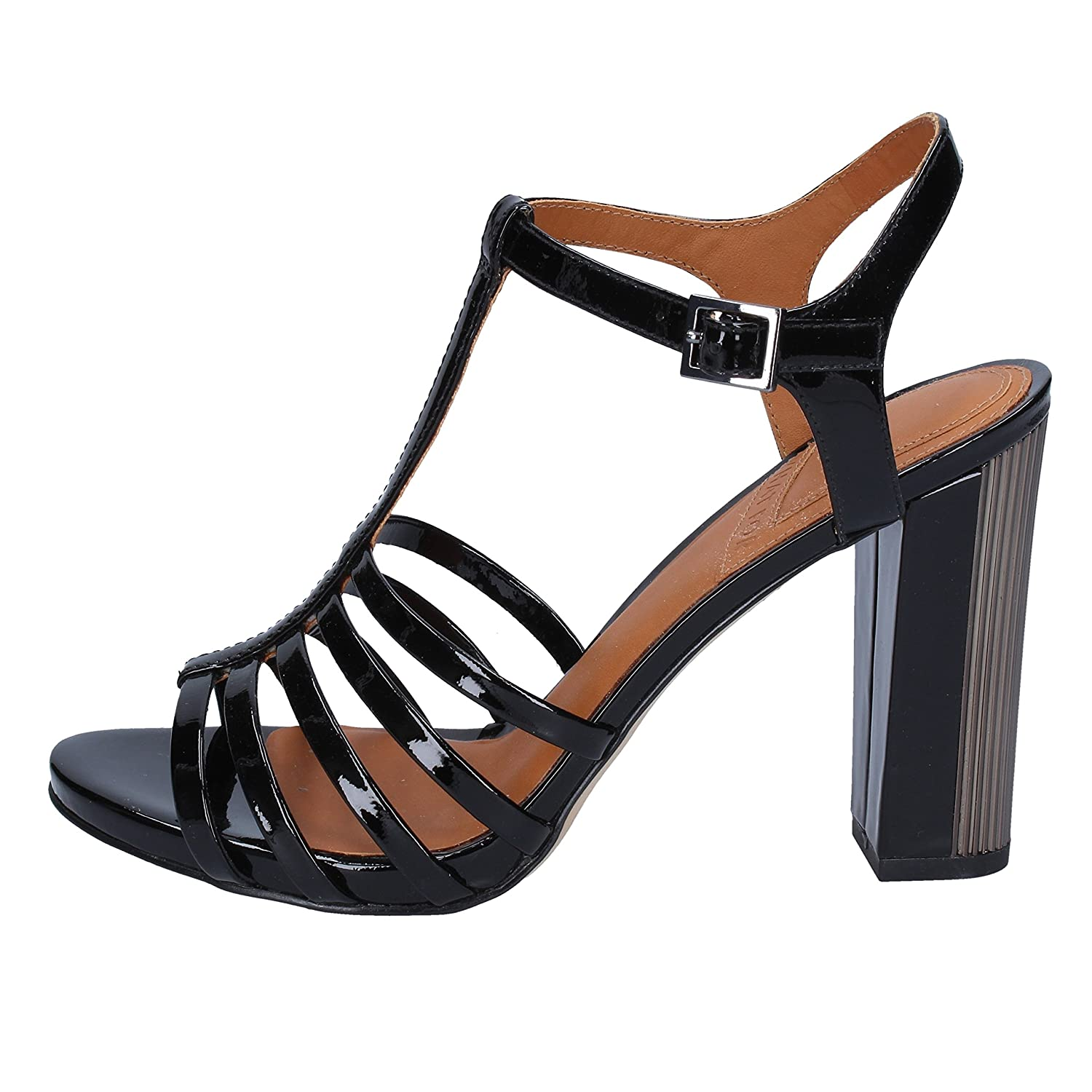 What For Sandalen Damen Lack schwarz