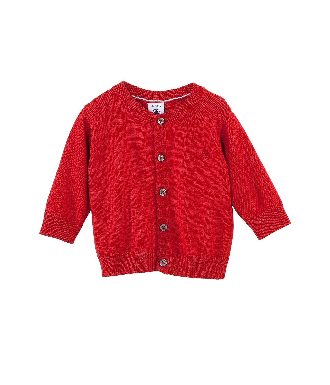 Red-18 Months Petit Bateau Cardigan