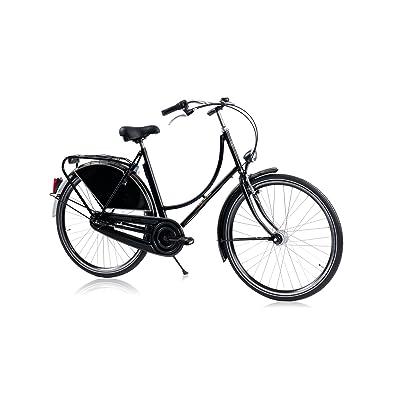 HOLLANDER, le vélo Hollandais original et unique, noir brillant, 7 vitesses Shimano, hauteur de cadre 56cm
