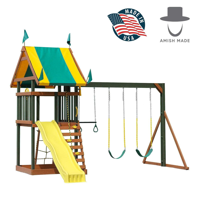 Champクラフトアウトドアキッズ木製プレイセット、amish-made in America – The Childhood Treasureモデル B07D51GVWQ