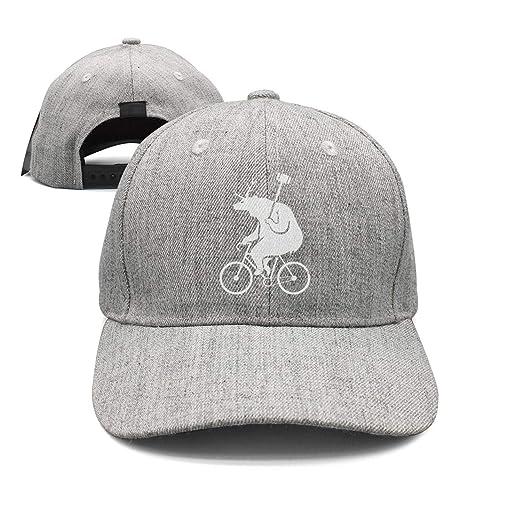 de7d0024b Amazon.com  LuTao Bike Polo Bear Unisex Baseball Cap Adjustable Snapback  hat Sport Cap  Clothing