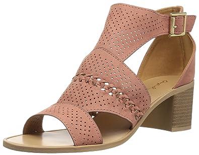 ea737495fb10 Qupid Women s Wood Heel Heeled Sandal