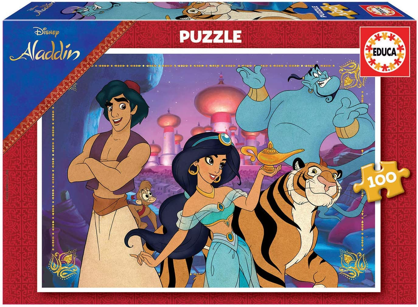 Educa- Aladdin Puzzle Infantil de 100 Piezas, a Partir de 6 años (18639)