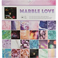 "American Crafts Single-Sided Paper Pad 12""X12"" 48/Pkg-Marble Love"