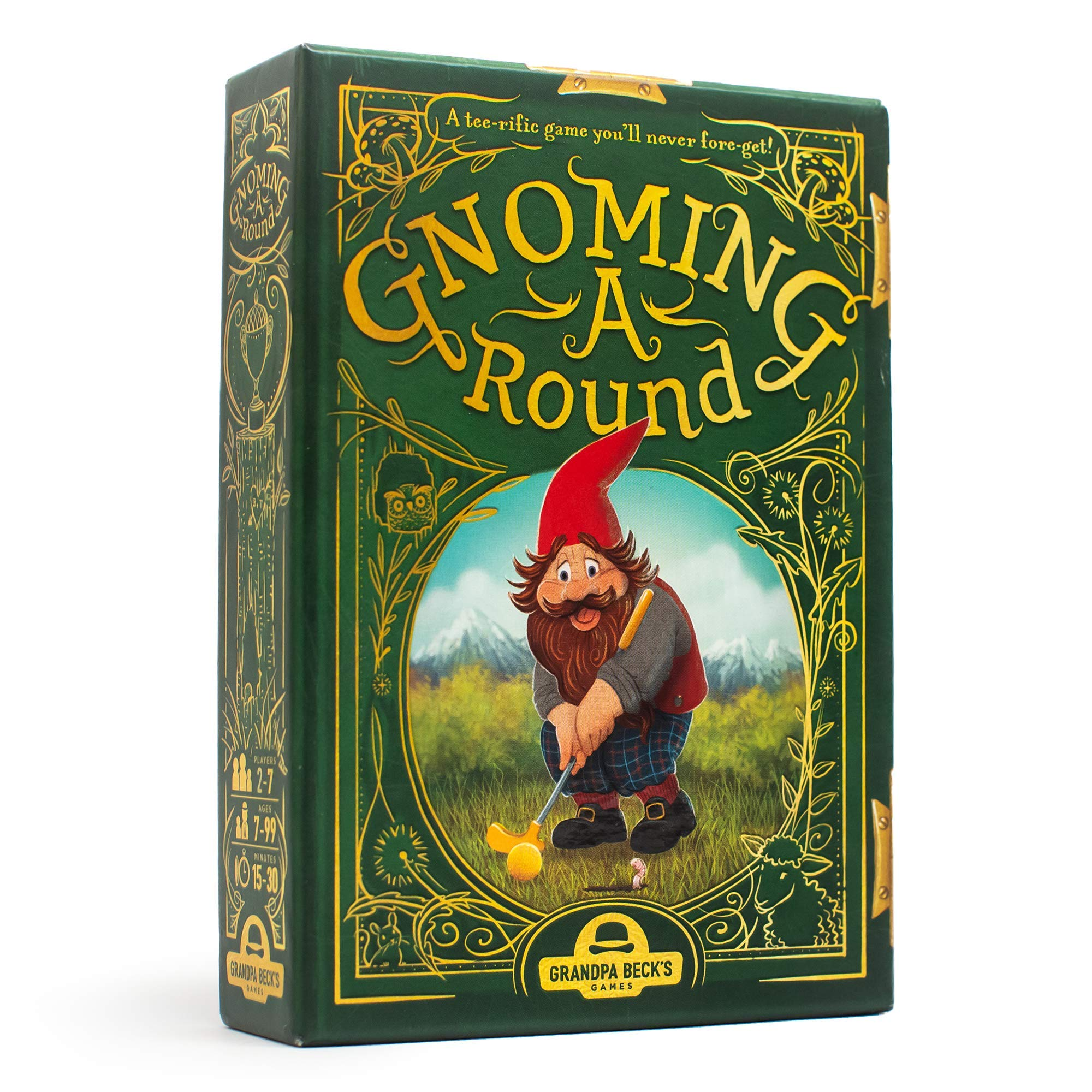 Grandpa Beck's Gnoming A Round Card Game   A Fun Family Card Game   Enjoyed by Kids, Teens, & Adults   from The Creators of Cover Your Assets   Ideal for 2-7 Players Ages 7+