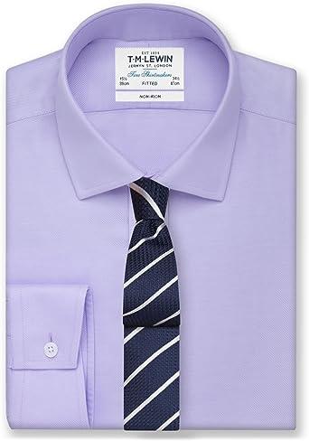 TM Lewin - Camisa formal - Básico - Clásico - Manga Larga ...