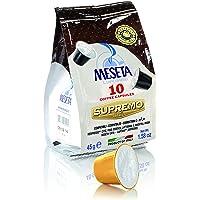 Meseta Cápsulas de Café 100% Arabica Italiano, Compatibles con Sistema Nespresso, Supremo, 45 g