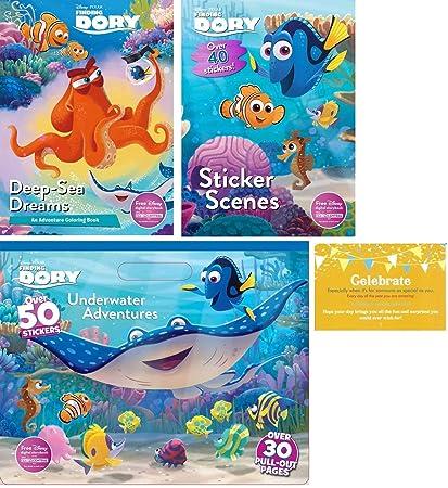 Amazon.com: Disney Finding Dory Coloring Experience Bundle ...