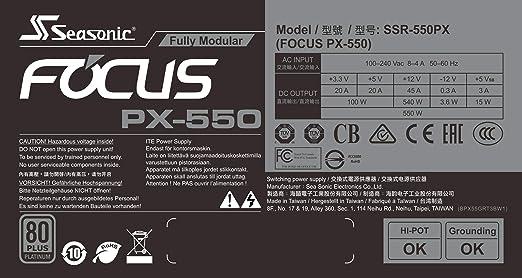 Seasonic Focus Px Fully Modular Pc Power Supply 80plus Platinum