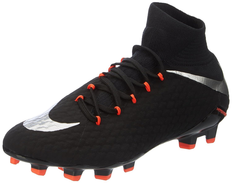 Nike Herren Nockenschuh Fussballschuh HYPERVENOM PHATAL III DF FG schwarz   silber