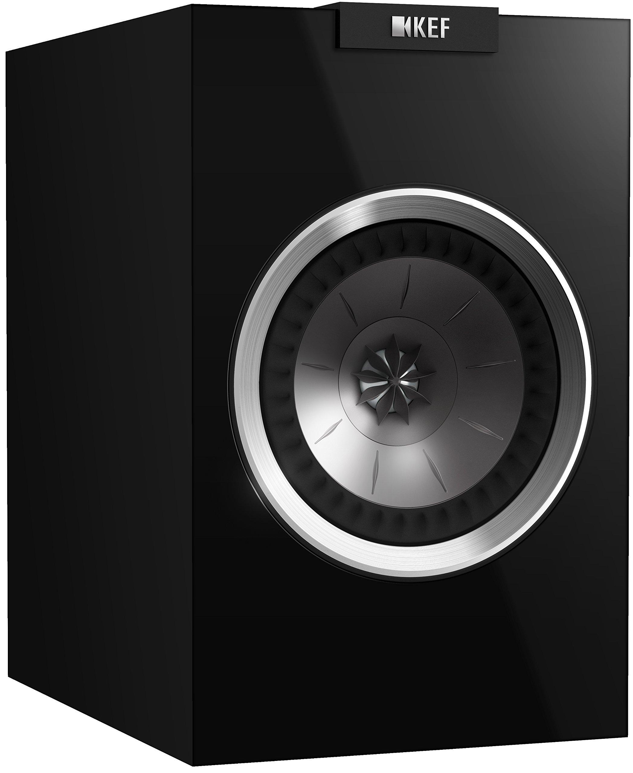 KEF R100 Bookshelf Loudspeaker - High Gloss Piano Black (Pair)