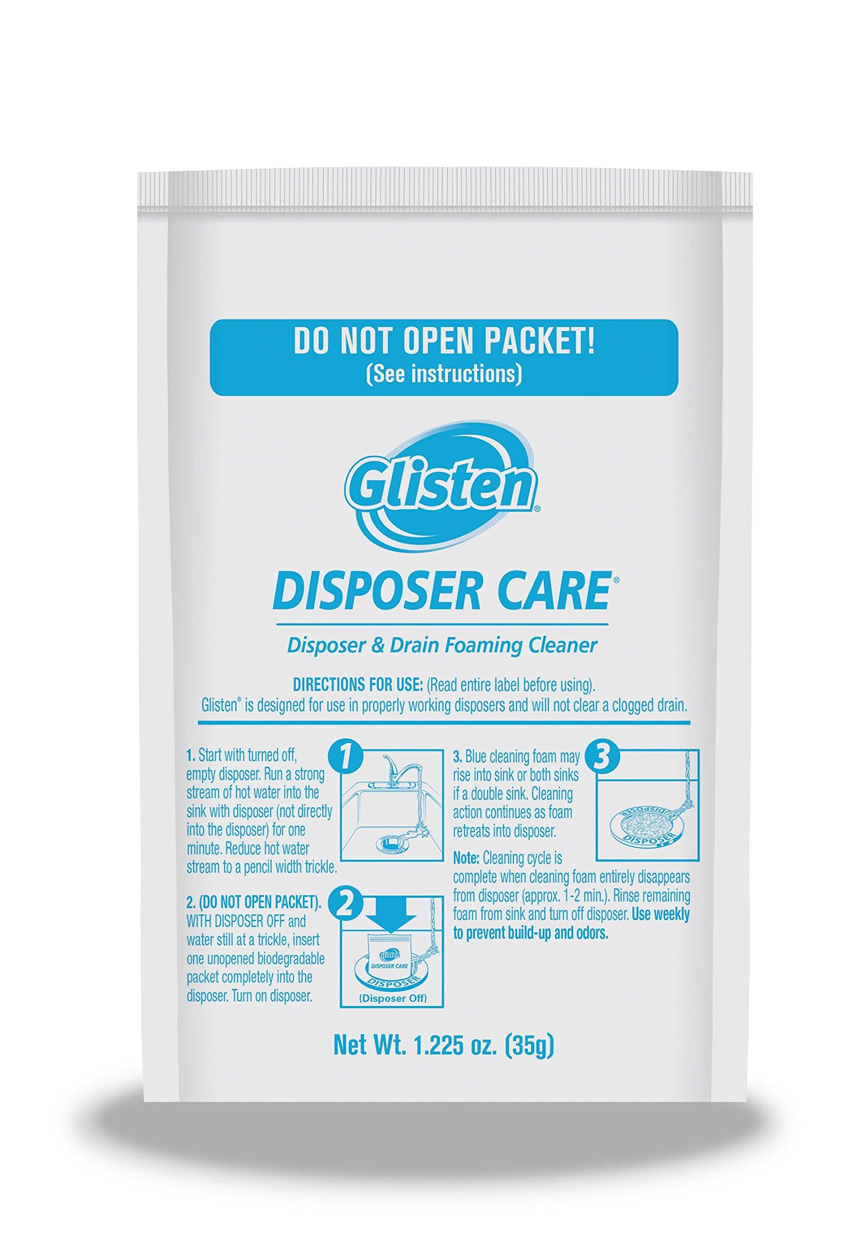 Summit Brands Glisten Disposer Care Foaming Cleaner, Lemon Scent, 4 ...