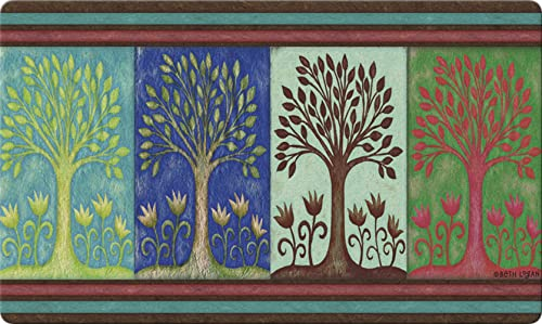Toland Home Garden Seasons 18 x 30 Inch Decorative Floor Mat Spring Summer Fall Autumn Winter Tree Doormat