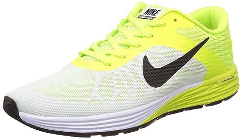 d91a45f5f66d1 Nike Men s Lunarglide 6 White Running Shoes -7 UK India (41 EU)(8 US ...