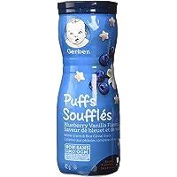 GERBER PUFFS, Blueberry Vanilla, Baby Snacks, 6 x 42 g (Pack of 6)