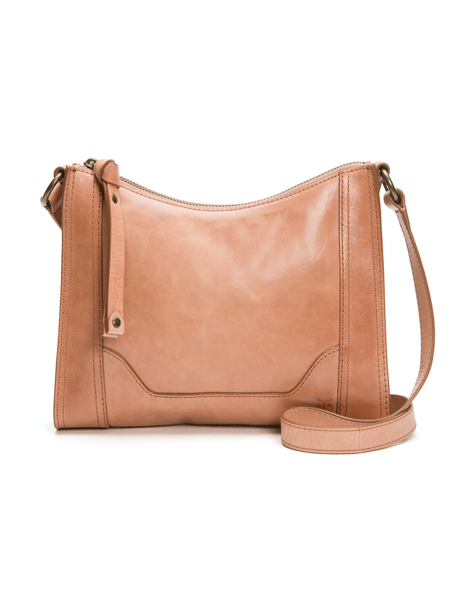 FRYE Melissa Zip Leather Crossbody Bag, Dusty Rose
