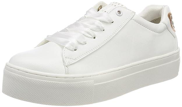 23741, Sneakers Basses Femme, Blanc (White Comb 197), 38 EUMarco Tozzi