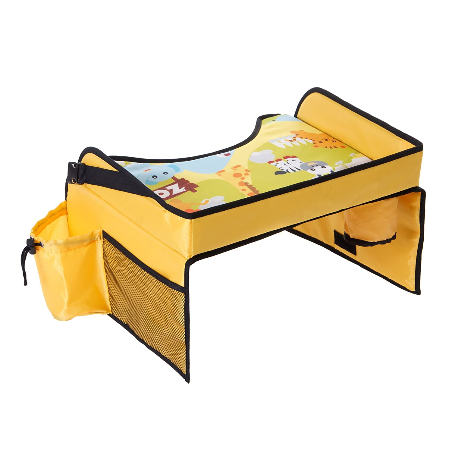 Kids Travel Tray Car Organiser Children Snack and Play Tray for Car Bus Train Plane Indoor Outdoors Journeys CL