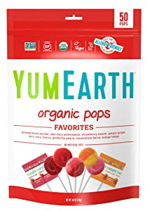 YumEarth Organic Lollipops, Variety Pack, 50 lollipops - 10.9 oz (pack of 1) - Allergy Friendly, Non GMO, Gluten Free, Vegan (Packaging May Very)