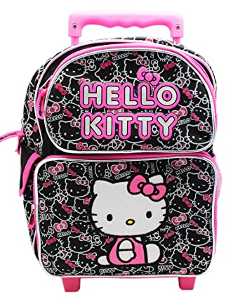 2dca6e924920 Image Unavailable. Image not available for. Color  Hello Kitty Pink Black  Face Pattern ...