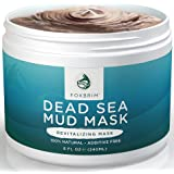 Pure Dead Sea Mud Mask - 100% Natural Clay Face Mask by Foxbrim - Additive Free - Restoring & Detoxifying Dead Sea Mud Mask for Acne, Tone and Lines - Imported from Israel - 240ml/8oz