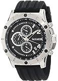 Lancaster Men's OLA0371NR Chronograph Black Textured Dial Black Silicone Watch