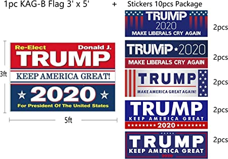 1//10PCS 2020 Trump Flag White Blue Banner Keep America Great Flags Acces