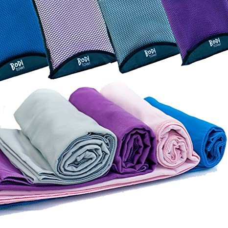 ebc4ed680335 Quick Dry Towel - Lightweight - Highly Absorbent - Compact - Travel - Soft  Microfibre - 100% Moneyback Guarantee - Large - Best For Yoga ...