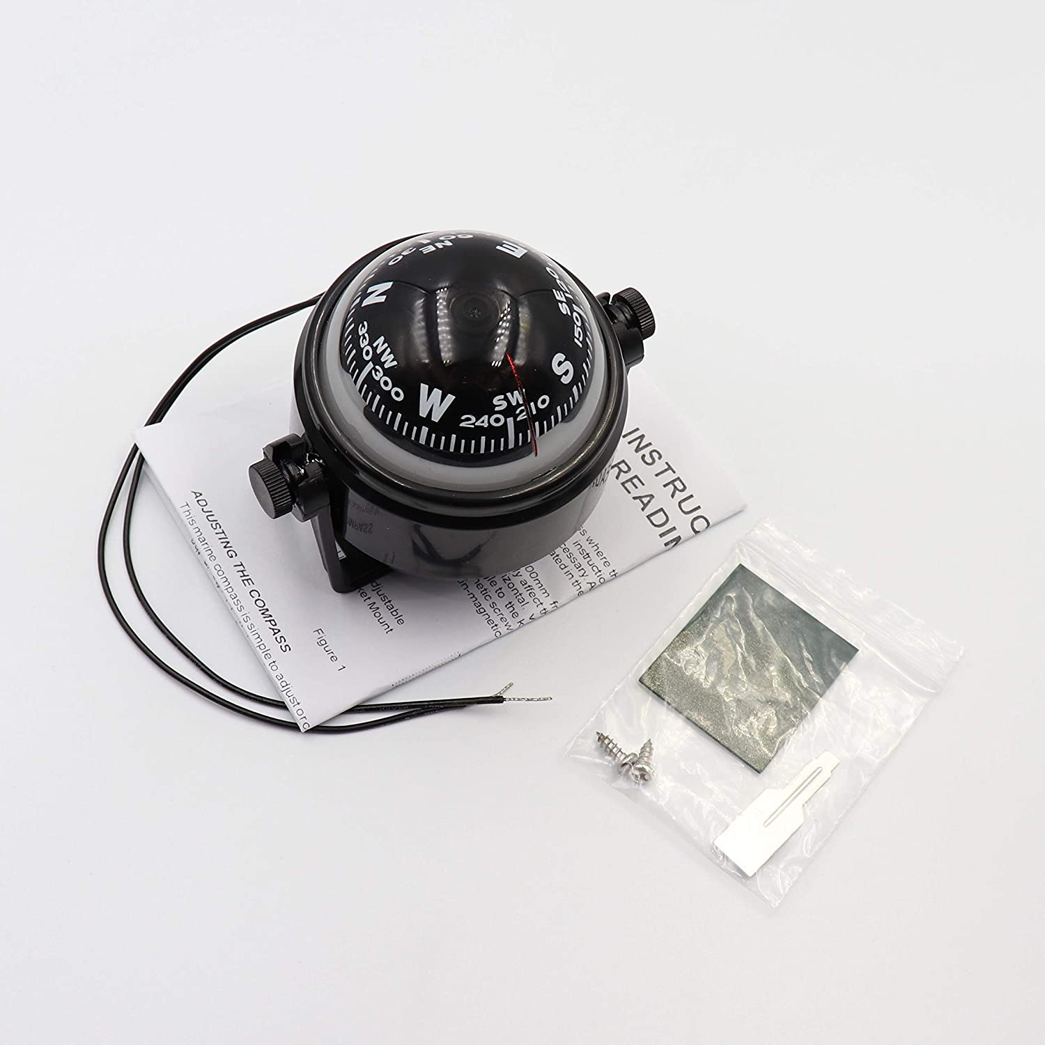 DETUCK Boat Compass Dashboard Marine Compass for Boat Compass Dash Mount Night Lighting : Sports & Outdoors