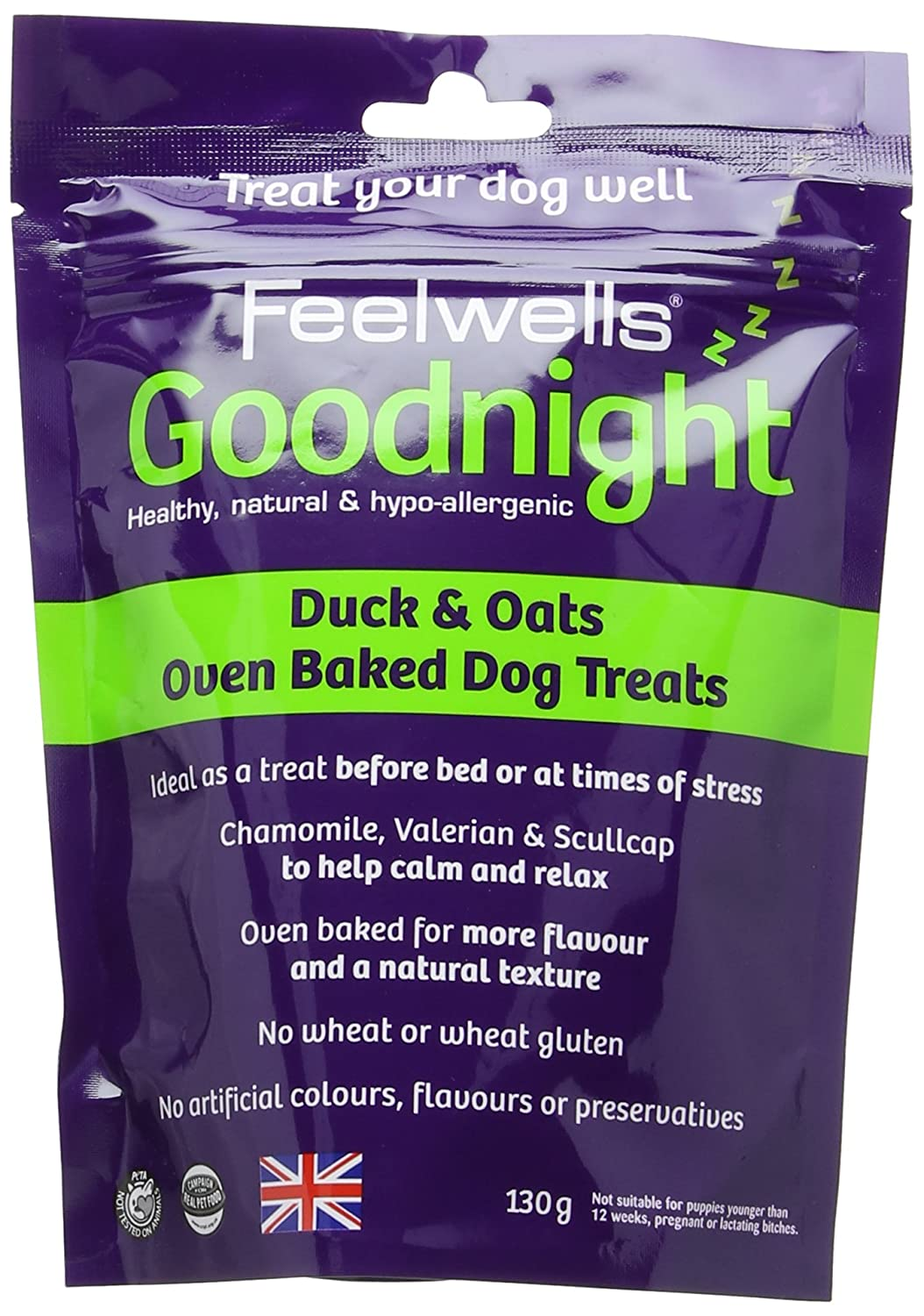 3 x Feelwells Meat Crunchies Healthy Natural Hypo-Allergenic Dog Treats 90g NEW