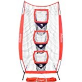 GoSports 8' x 4' Football Training Vertical Target Net, Improve QB Throwing Accuracy – Includes Foldable Bow Frame and Portab