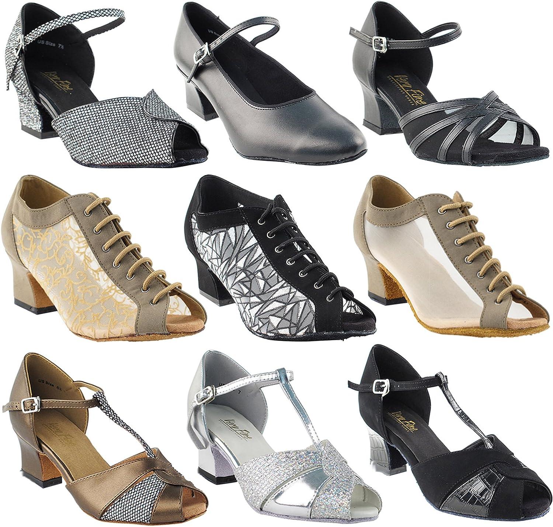 [ゴールド Pigeon Shoes] レディース C1643 黒 Nubuck (3mm Thick Sole) 2\