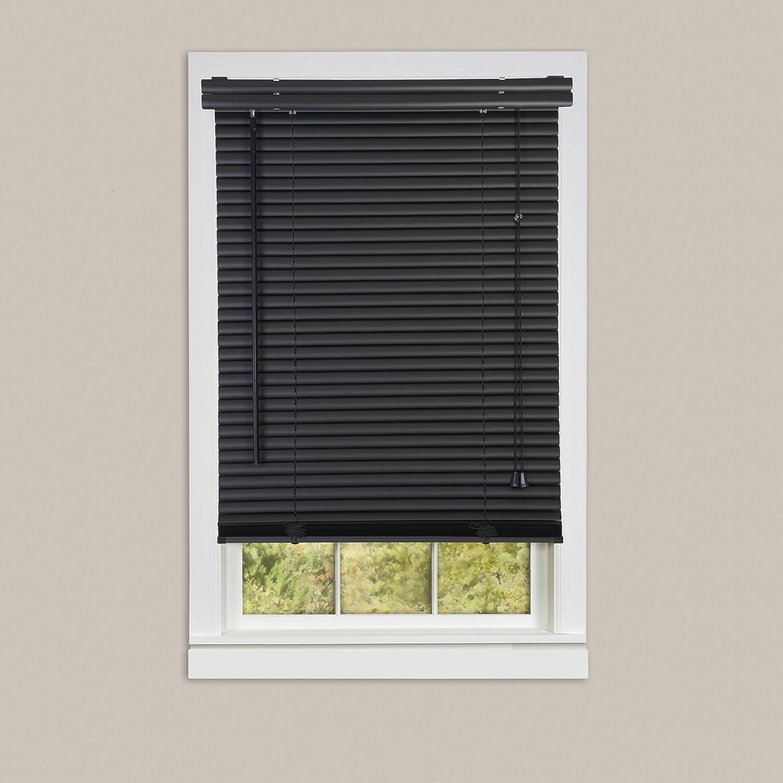 Black Length 72inch Drop X Width 23inch Achim Home Furnishings Corded Morningstar 1 Light Filtering Mini Blind