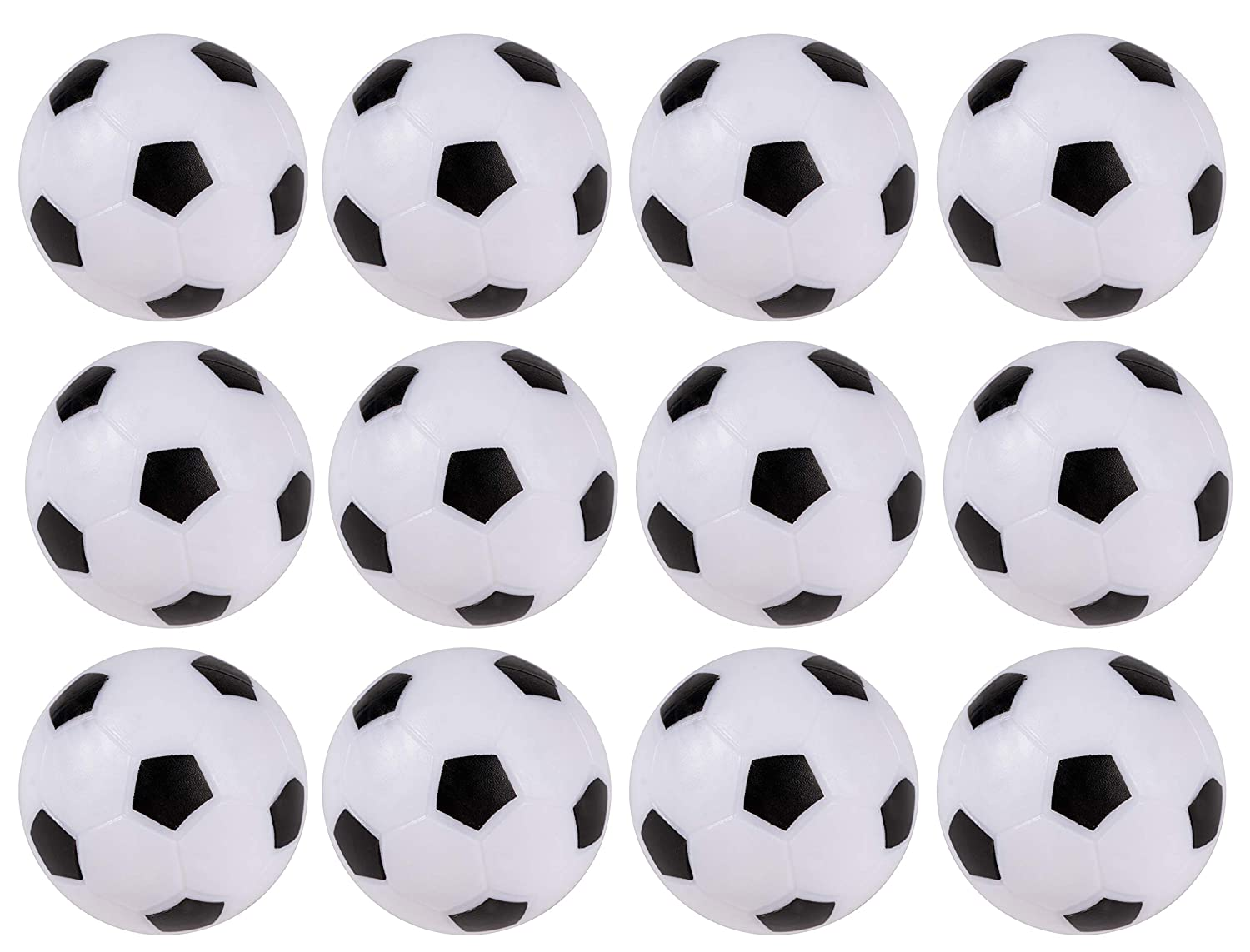 12-pack Foosball Balls Mini Table Footballs Replacements - Official Size 36 mm Juvale