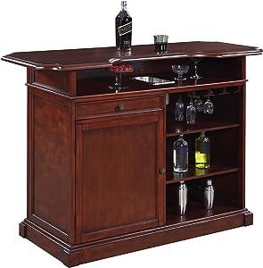 Hathaway Ridgeline 5' Home bar Set with Storage Walnut